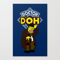 Doctor D'oh Canvas Print