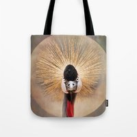 Crested Crane  Tote Bag