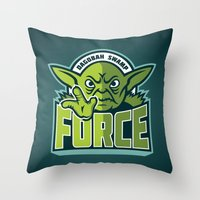 Dagobah Swamp Force - Te… Throw Pillow