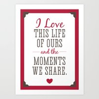 Loving Our Life Together Art Print