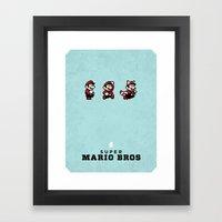 Super Mario Bros 3 Framed Art Print