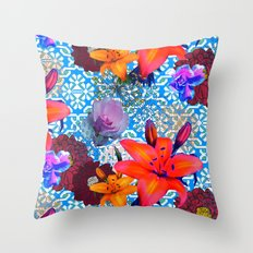 old flowers Throw Pillow