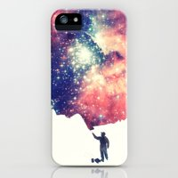 iPhone Cases featuring Painting the universe by badbugs_art