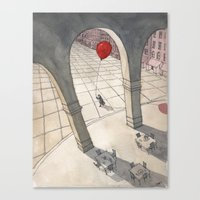 Red Balloon Canvas Print