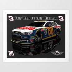 Man in the Mirror #NASCAR Art Print