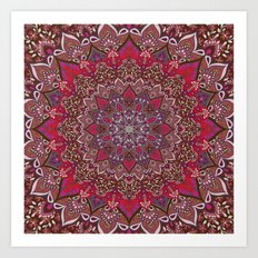 Farah Red Art Print