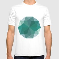 Shapes 011 Mens Fitted Tee White SMALL