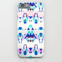 iPhone & iPod Case featuring Mountain Ikat in Pink and Blue by NOxLA