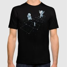Hopscotch Astronauts Mens Fitted Tee Black SMALL