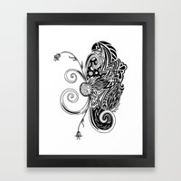 Spirit Of Spring B&W Framed Art Print