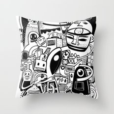 BIG - BW Throw Pillow