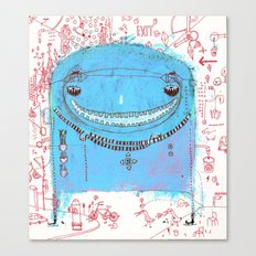 Blue Monster Canvas Print