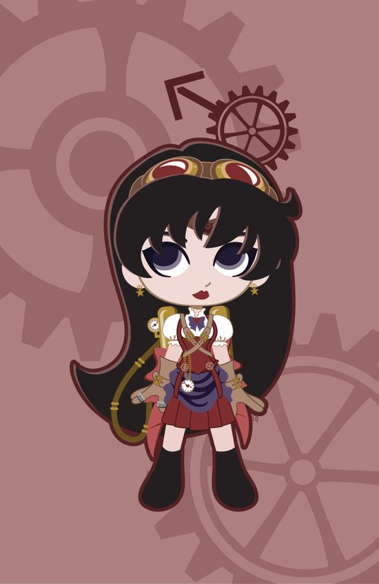 Steampunk Sailor Mars - Sailor Moon Art Print