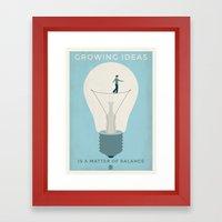 Growing Ideas Framed Art Print
