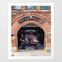 Engine 33 Art Print