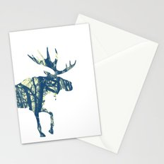 Moose Two Stationery Cards
