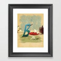 Time For Tea With Letter… Framed Art Print