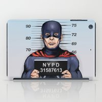 superhero in trouble iPad Case