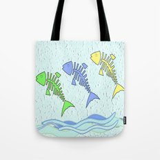 Fish jumping Tote Bag