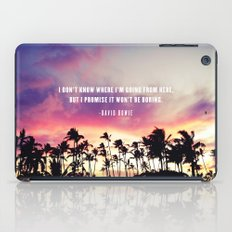 1980's sunset and quote iPad Case