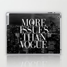 More Issues Than Vogue Black and White NYC Manhattan Skyline Laptop & iPad Skin