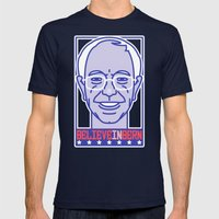 Shout to the Top: BelieveInBern Mens Fitted Tee Navy SMALL