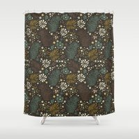 Mystical Forest (Greens) Shower Curtain