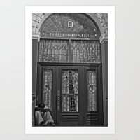 Asleep at The Driskill  *All profits earned will be donated to the local homeless shelter* Art Print