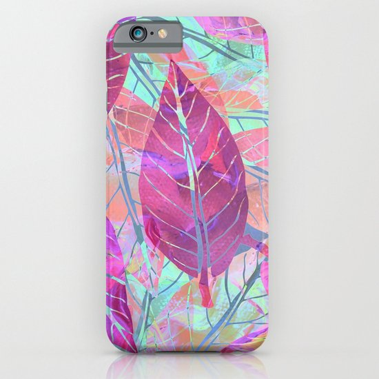 Pink Leaves iPhone & iPod Case