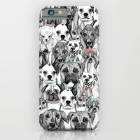iPhone & iPod Case featuring just dogs coral mint by Sharon Turner