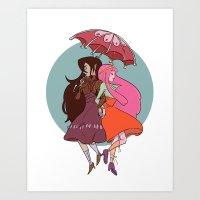 Marcy & PB Art Print