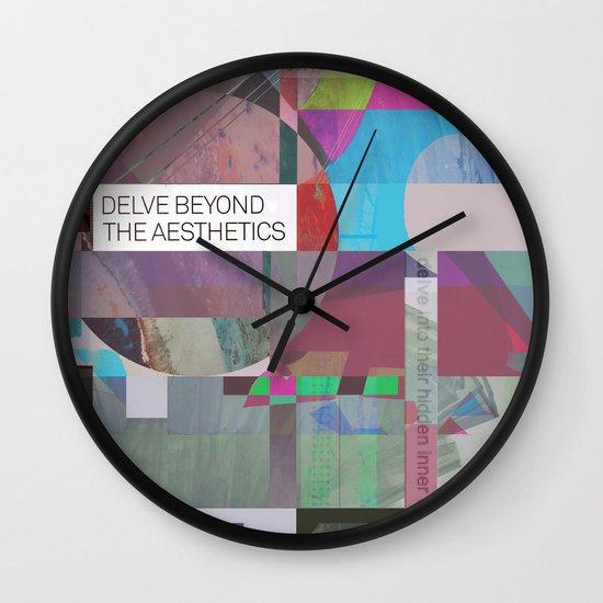 Delve Beyond The Aesthetics Wall Clock