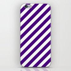 Diagonal Stripes (Indigo/White) iPhone & iPod Skin
