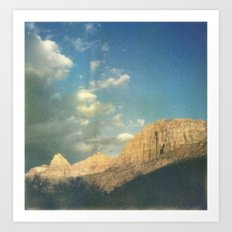 Soaking up the golden hour Art Print