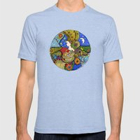 Circle of Life Mens Fitted Tee Tri-Blue SMALL