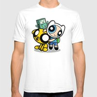 Adventure Puff Buds Mens Fitted Tee White SMALL