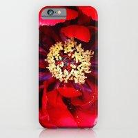 Red Peony iPhone 6 Slim Case