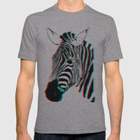 Zebra Mens Fitted Tee Athletic Grey SMALL