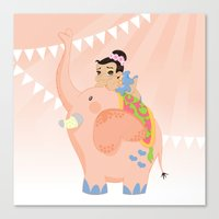 Pink circus Canvas Print