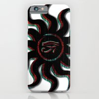 iPhone & iPod Case featuring Red Egyptian Sun by Brandon Minieri