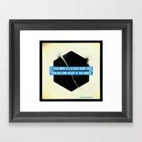 Endless Knock Framed Art Print