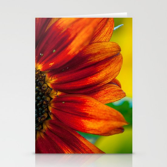 Red Sunflower Stationery Card