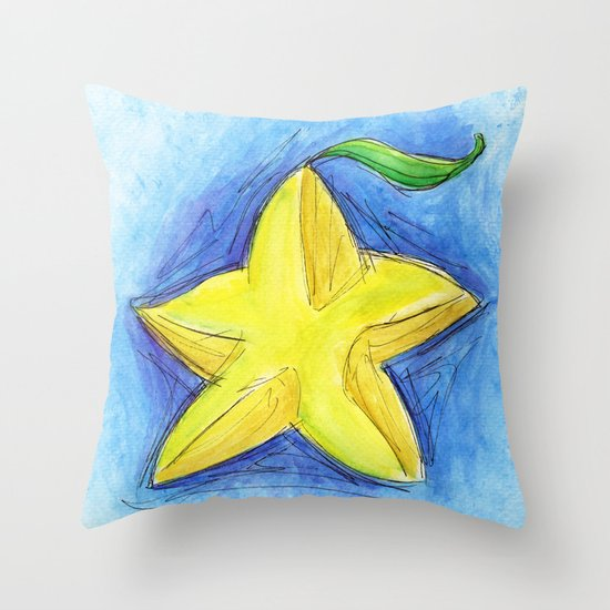 Paopu Fruit Throw Pillow