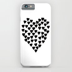 Hearts Heart Black and White Slim Case iPhone 6s