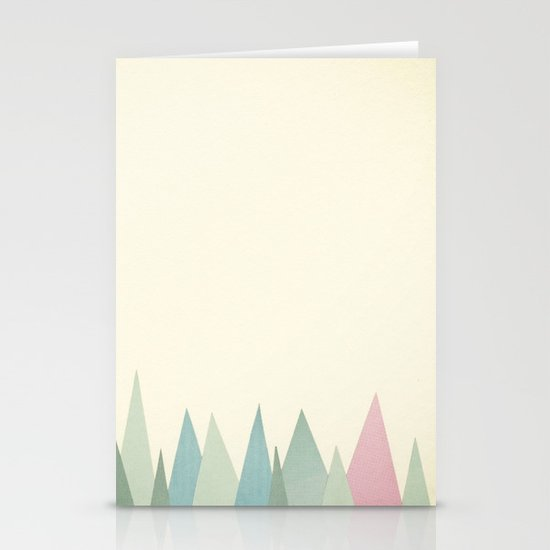Snowy Mountains Stationery Card