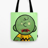 Zombie Charlie Brown Tote Bag