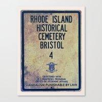Historical Cemetery Bristol, RI Canvas Print