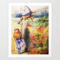 Alice Meeting Humpty Dealer Art Print