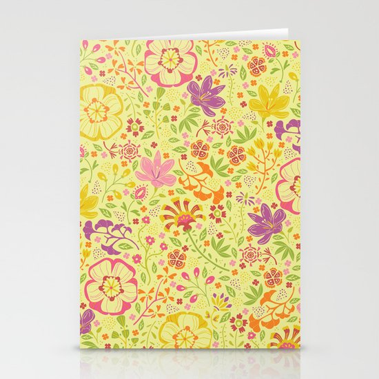 Oriental Blooms Stationery Card