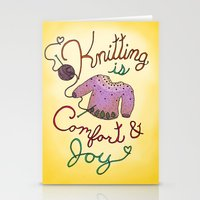 Knitting is Comfort and Joy Stationery Cards